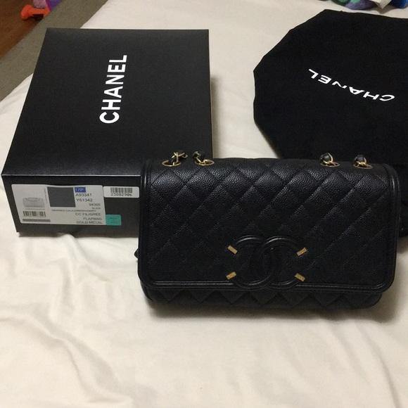 938b32431df6 CHANEL Bags | Filigree Flap Bag | Poshmark
